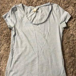 H&M Basic Light Blue T-Shirt- Medium